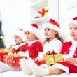 Funny christmas company — Stock Photo #13806070