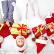 Stock Photo: Funny christmas company