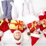 Funny christmas company — Stock Photo