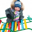 Little boy with sled — Stock Photo #13806321