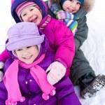 Children in wintertime — Stock Photo