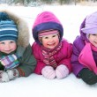 Children in winter — Stock fotografie
