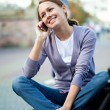 Woman with cell phone — Stock Photo #13806478