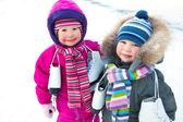 Kışın küçük patenciler — Stok fotoğraf