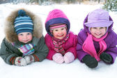 Children in winter — Stock Photo