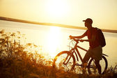Trip on bicycle — Stock Photo