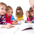 Stock Photo: Kids make Homework