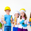 Kids playing in professions — Stock Photo