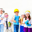 Stock Photo: Kids playing in professions