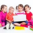 Children with laptop — Stock Photo #14085218