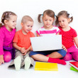 Stock Photo: Children with laptop