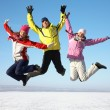 Friends on winter resort — Stock Photo #14086705