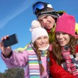 Friends  in wintertime - Stock Photo