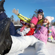 Friends on winter vacation - Stock Photo