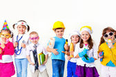 Kids playing in professions — Stockfoto