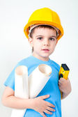 Little builder — Stockfoto