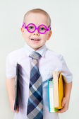 Little intelligent boy — Stock Photo