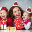 Happy family celebrating Christmas  — Stock Photo #14682701