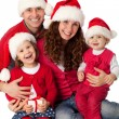 Happy family celebrating Christmas — Stock Photo #14682765