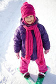Little skier — Stock Photo