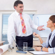 Man and woman working in office — Stock Photo