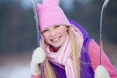 Happy winter girl — Stock Photo