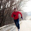 Jogging in winter — Stock Photo #16893869