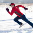 Stock Photo: Jogging in winter