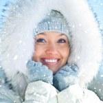 Wonan in winter — Stock Photo