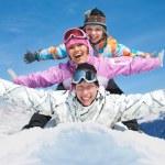 Friends in winter resort — Stock Photo #16894471