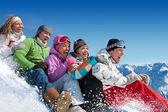 Kar oyunları — Stok fotoğraf