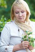 Sad mature woman — Stock Photo