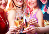 Champagne at party — Stock Photo