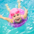 Little girl swimming — Stock Photo #19053045