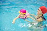 Baby swimming — Foto Stock