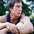 Stock Photo: Portrait of bodybuilder