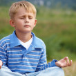 Stock Photo: Boy - yogi