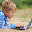 Royalty-Free Stock Photo: Boy with laptop