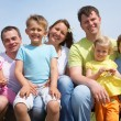 Stock Photo: Attractive portrait great families with their children