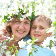Beautiful Happy mother with her son — Stock Photo #19261595