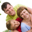 Family lifestyle portrait — Stock Photo