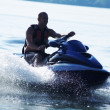 Man drive on the jetski — Stock Photo