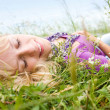 Girl in the grass — Stock Photo #19265923