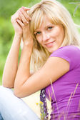 Portrait of blonde woman — Stock Photo