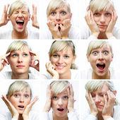 Mujer emotiva — Foto de Stock