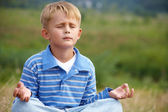 Boy - yogi — Stock Photo