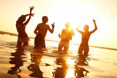 Beach party — Stockfoto