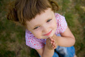Cute Little Girl Praying — Stock Photo