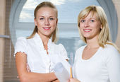 Portrait two businesswomans — Foto Stock