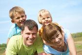 Family lifestyle portrait — Stock Photo